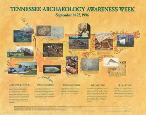 The first TAAW poster (1996; Designed and printed by MTSU Publications and Graphics and Ambrose Printing Co.)
